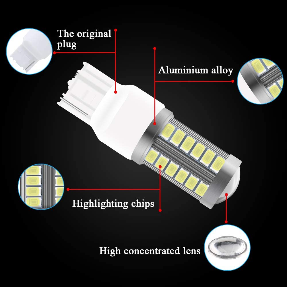 4 unids /Ámbar 1157 BAY15D 5630 33SMD Bombillas LED para autos Canbus 900LM se/ñales de giro luz s/úper brillante de Freno Luz se/ñales de giro delantera y trasera 12-30V 3.6W