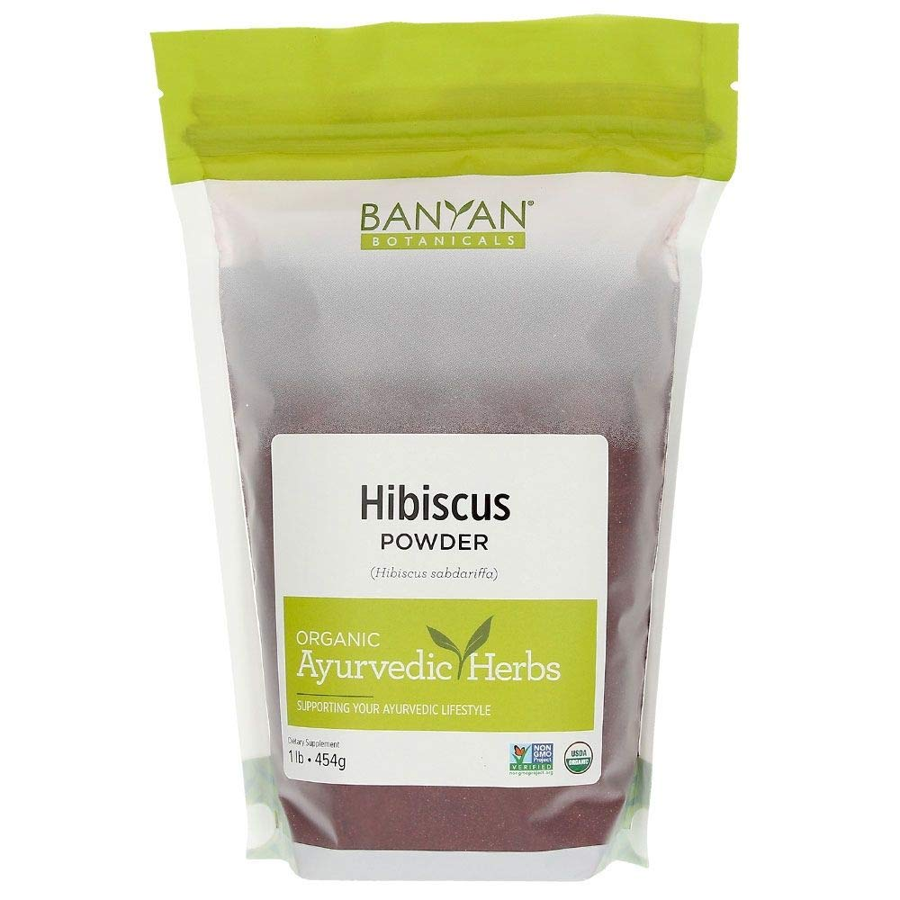 Banyan Botanicals Hibiscus Flower Powder 1 lb - USDA Organic - Hibiscus sabdariffa - For Hair, Skin, Women's Health* by Banyan Botanicals