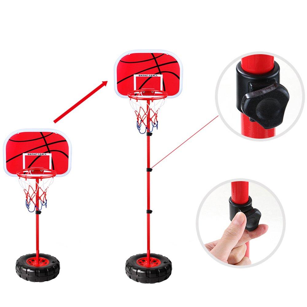 WISHTIME Kinder Einstellbare Basketballst/änder Basketballk/örbe Basketballkorb mit St/änder H/öhenverstellbar Basketball Backboard St/änder /& Hoop Set Korb Spiel