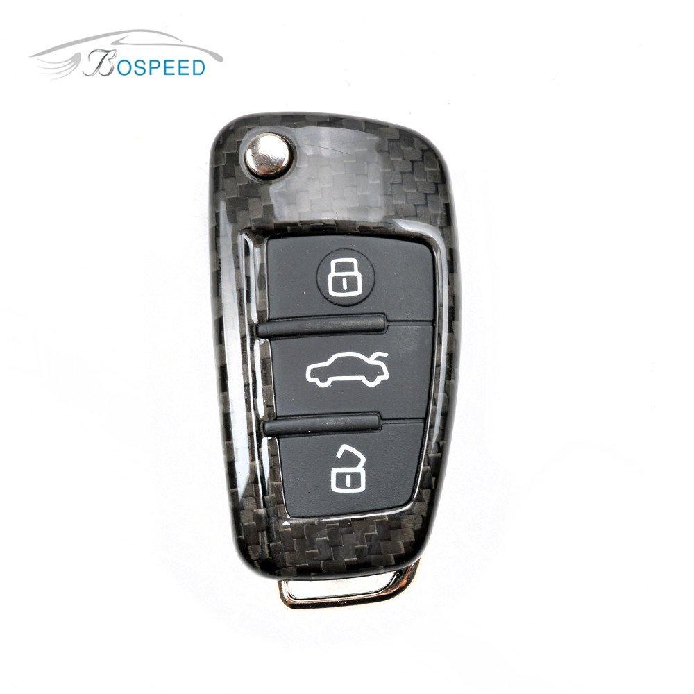 Amazon Com Bospeed Kc Audi 001 Real Carbon Fiber Remote Flip Key