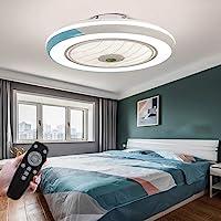 LED-plafondventilator met lamp, moderne onzichtbare ventilator, plafondlamp, ultra-stil, met verlichting, voor eetkamer…