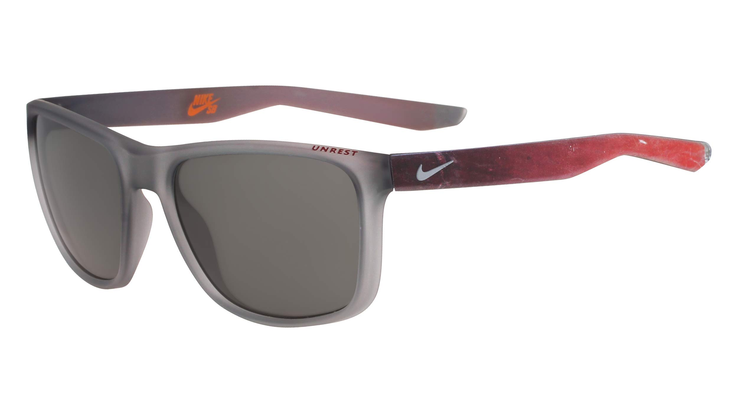 Nike Golf Men's Unrest Se Rectangular Sunglasses, Matte Wolf Grey/Gym Red Frame, 57 mm