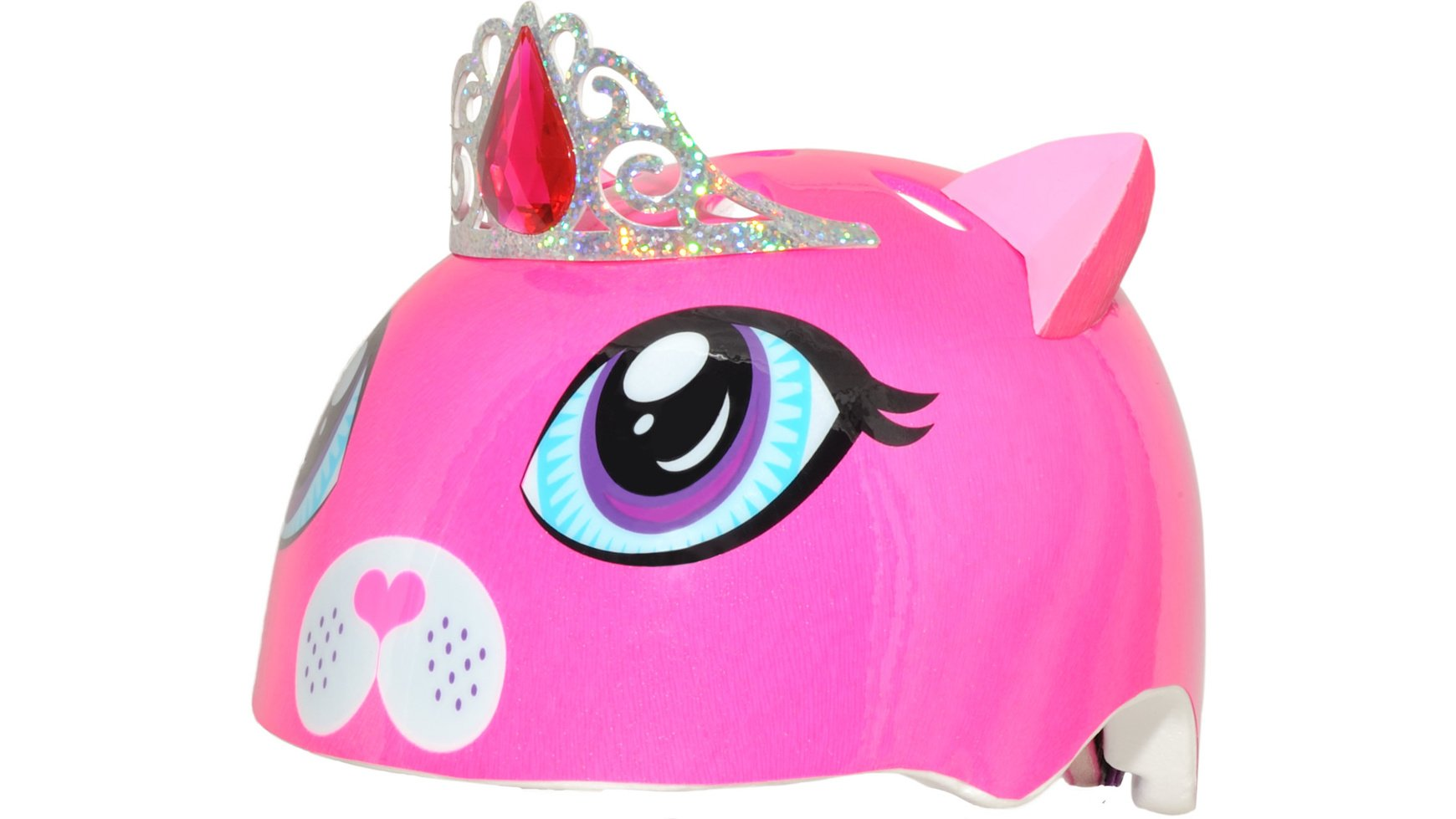 Raskullz Girls Kitty Tiara Helmet, Dark Pink, Ages 5+