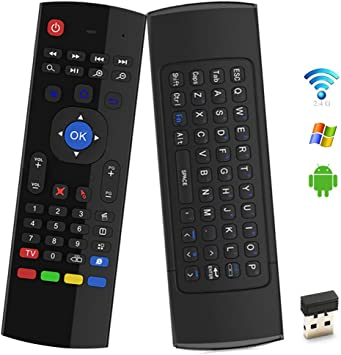 OVERBOX MX3 Air Mouse Control Remoto 2.4GHz Teclado inalámbrico con Receptor USB Dongle Infrared Learning para Android TV Box, Smart TV, PC, Proyector, HTPC, Windows, Mac OS, Linux, Game Player: Amazon.es: Electrónica