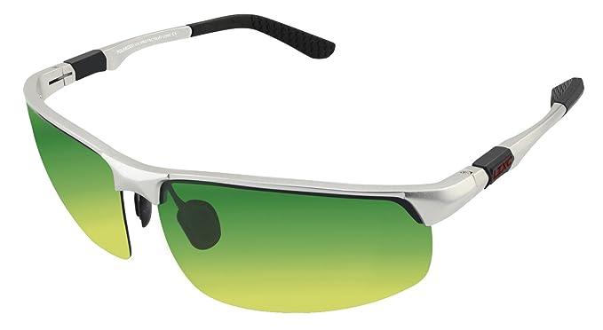 LZXC Occhiali da sole polarizzati uomo Occhiali sportivi per la guida in AL-MG Metallo Telaio Lente Grigia qrtqJNRXJj
