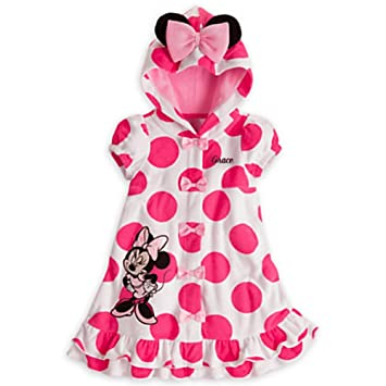 f838fb469e878 Amazon.com   Disney Minnie Mouse Swimsuit Hooded Cover-Up with Ears for  Girls (3T)   Baby