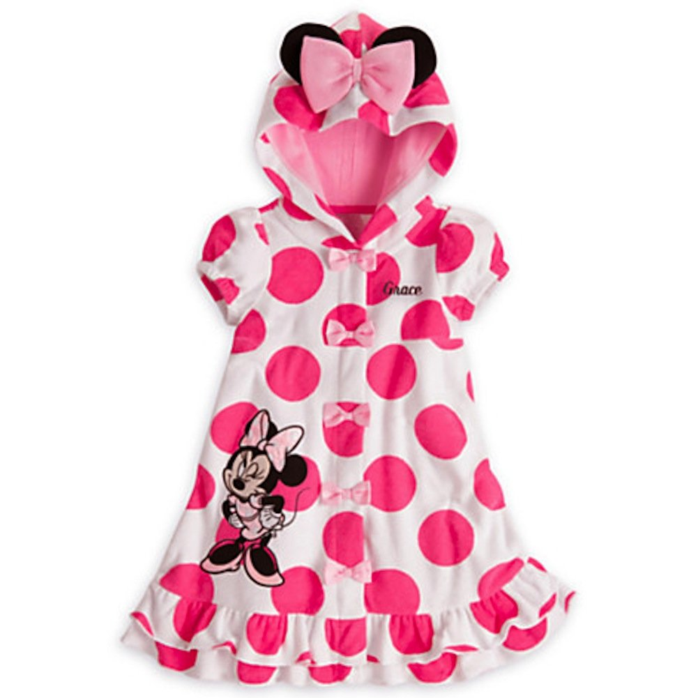Disney Minnie Mouse Swimsuit Hooded Cover-Up with Ears for Girls (3T)