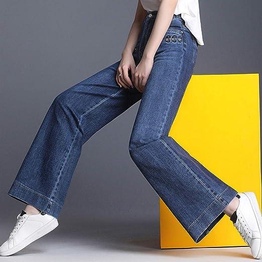 Zhounan Jeans Donna Pantaloni Larghi Larghi Primavera e