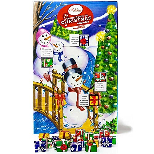 - Madelaine Chocolates 2018 Christmas By The Creek Countdown Advent Calendar, Filled With (8 oz - 226 g) Solid Premium Milk Chocolate Presents (1 Pack)