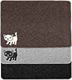 "Smiling Paws Pets Premium Cat Litter Mat, BPA Free, XL Size 35""x23.5"", Non-Slip - Tear & Scratch Proof, Easy to Clean Kitty Litter Catcher with Scatter Control (Extra Large Brown)"