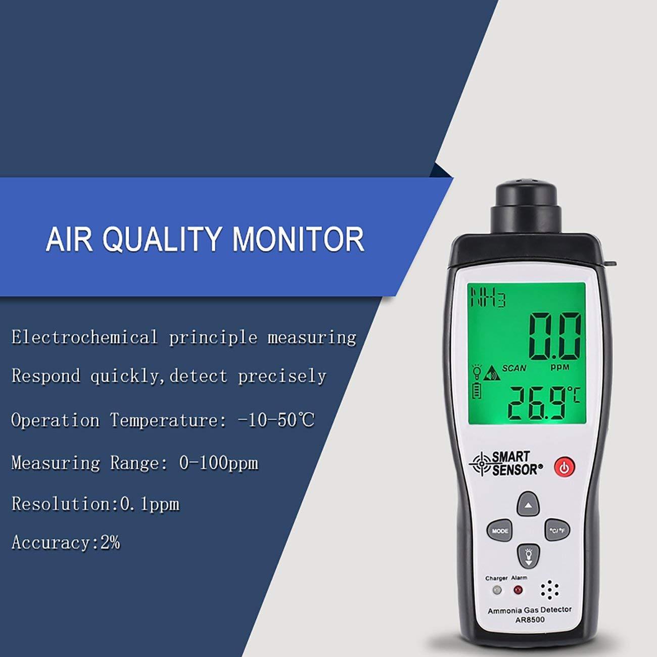 Probador del analizador del detector de gas de la temperatura del amoníaco del metro de la calidad del aire: Amazon.es: Industria, empresas y ciencia
