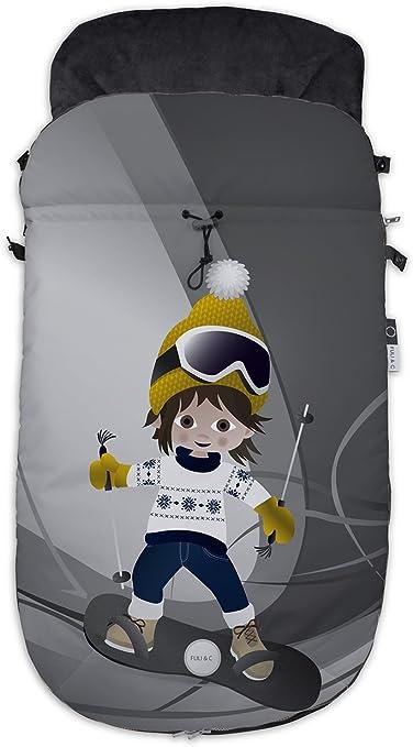 Fuli Co Aspen Saco Universal Para Silla De Paseo 93 5 X 45 X 5 Cm Color Amarillo Amazon Es Bebé