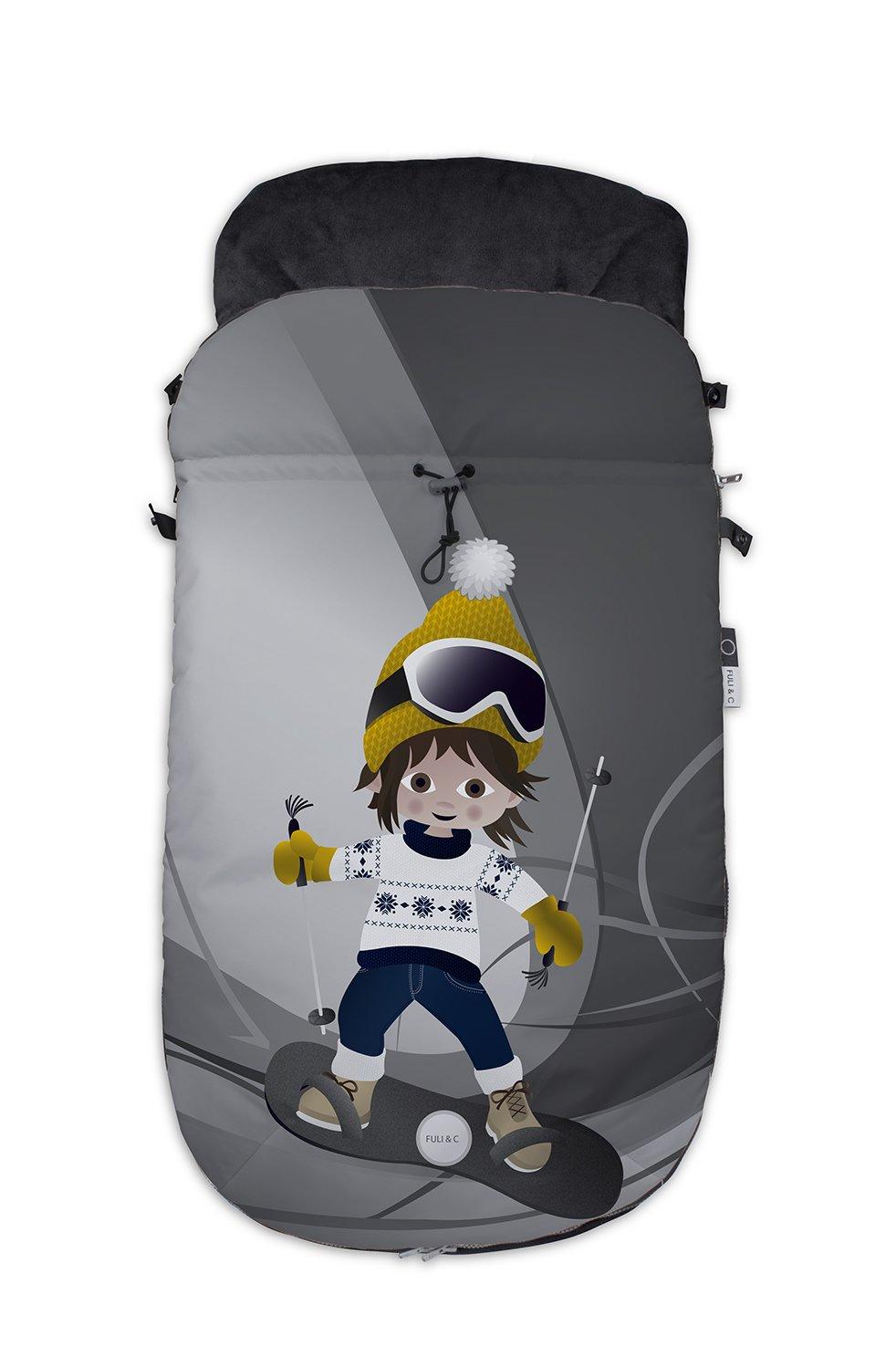 Fuli& co Aspen - Saco universal para silla de paseo, 93.5 x 45 x 5 cm, color beige Top Disseny