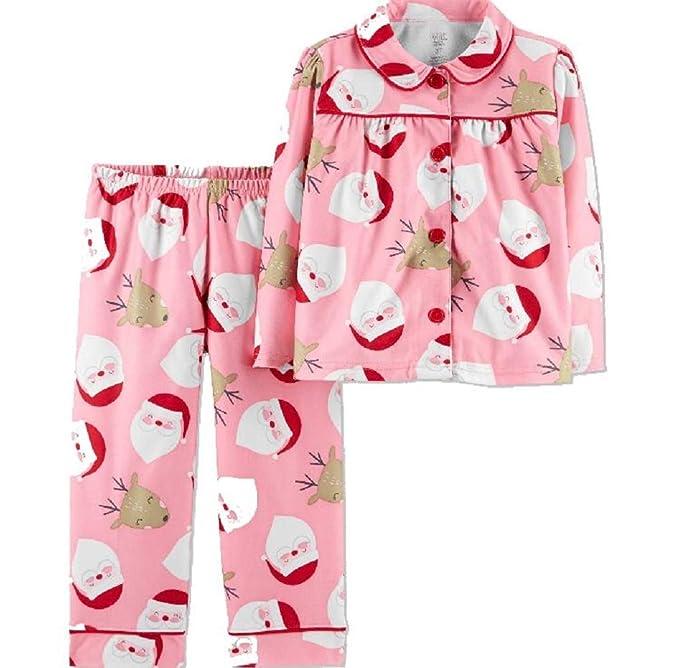 813d445d9458 Amazon.com  Just One You Toddler Girls  Santa Coat Pajama Set Made ...