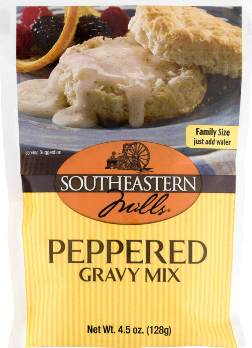 Southeastern Mills Old Fashioned Peppered Gravy Mix 4.5 oz. Packets (3 Pack) by Southeastern Mills