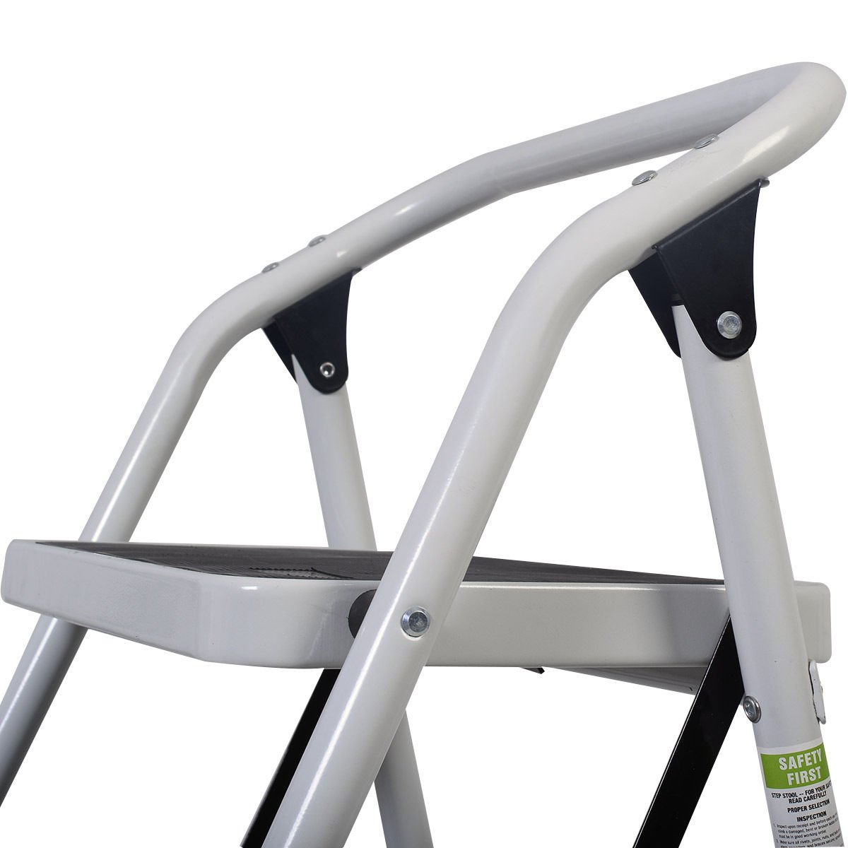 Z ZTDM Portable 3 Step Ladder with 330lbs Capacity Platform Father's Day Gift Lightweight Short Handrail Iron Folding Stool by Z ZTDM (Image #5)