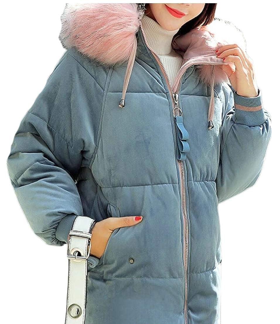 3 LEISHOP Womens Warm Winter Faux Fur Jackets Coats Hooded Parka Overcoat