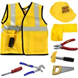 iPlay, iLearn Construction Worker Role Play Costume Set (3-6 Years)