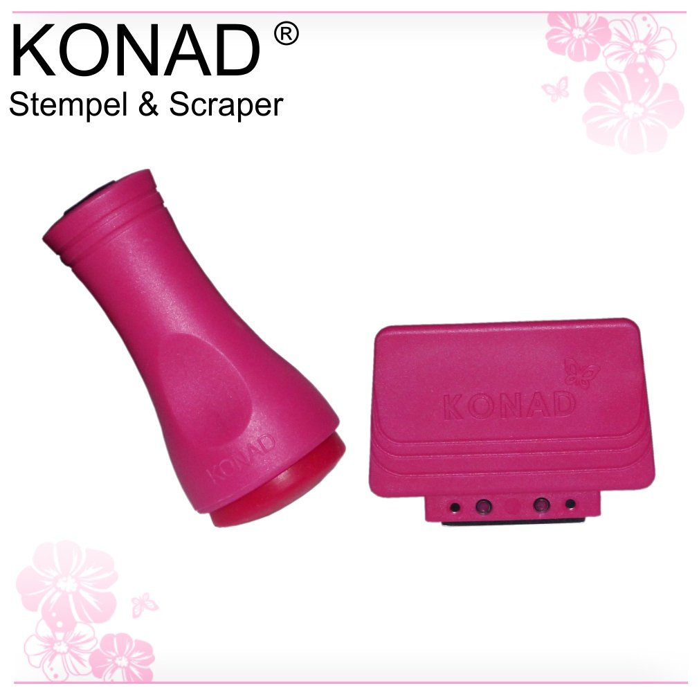 KONAD Kit Stamping Nail Art - Tampon et Raclette