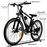 Ancheer Electric Mountain Bike with Removable Lithium-Ion Battery, Battery Charger (Classic Knight 8 Ah)