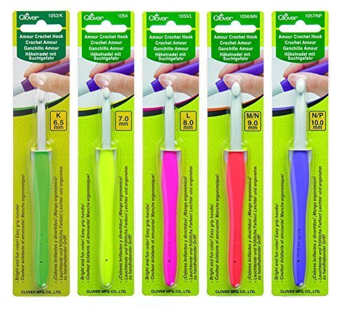 Clover Amour Crochet Hooks - Set of 5 - For Working with Thick Yarns - $34.87
