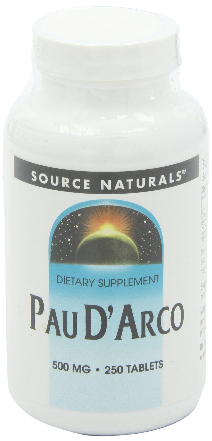 Source Naturals Pau D'Arco, 500mg, 250 Tablets