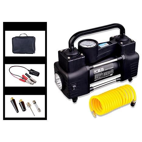 Q&F Neumático inflado con manómetro digital Compresor de aire portatil 12v Dc Neumático inflado Con luz