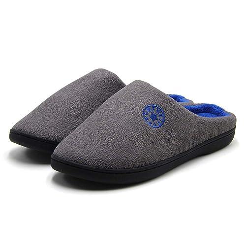 Hombre Espuma Memory Zapatillas de Interior Zapatillas de Estar por Casa Mujer Suave Algodón Zapatilla Unisex Adulto: Amazon.es: Zapatos y complementos