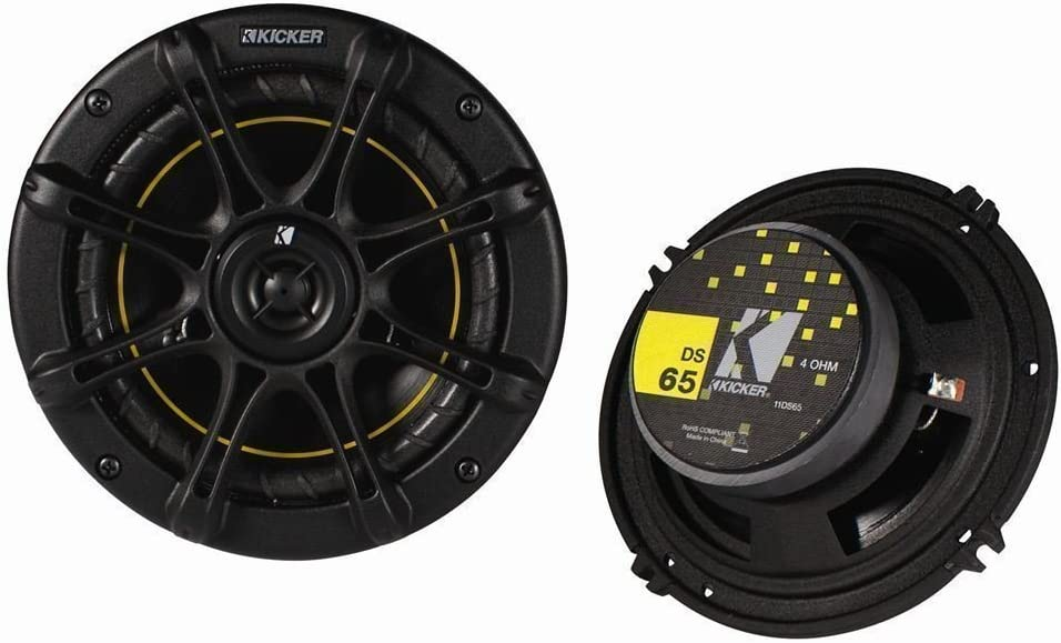 Kicker 4 New futbolín DS65 6.5 de 2 Way 200 vatios 4 ohmios DS Series Car Audio Speakers 11ds65 by futbolín: Amazon.es: Deportes y aire libre