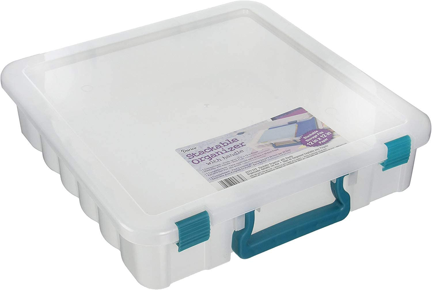 'Darice Clear Organizer with Handle 14x14 inches