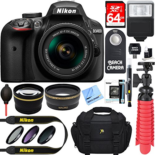 nikon-d3400-242-mp-dslr-camera-af-p-dx-18-55mm-vr-nikkor-lens-kit-accessory-bundle-64gb-sdxc-memory-