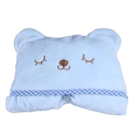 mism Infant bebé toalla, diseño de animales suave capa 4 colores disponibles (I)