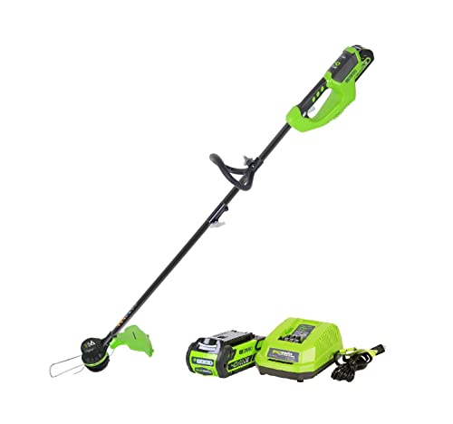 Greenworks 14-Inch 40V Brushless Cordless String Trimmer, 2.0 AH Battery Included ST40L210