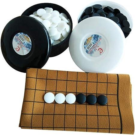 Dfghbn-YXWJ Go Game Set Juego de Juegos Go Magnetic Single Convex Stones: Listo for Viajes for niños y Adultos Juego de Mesa de Estrategia (Color, tamaño : Un tamaño): Amazon.es: Hogar