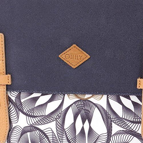 Oilily Oilily M Shoulder Bag - Borse a tracolla Donna, Grau (Charcoal), 7x23x31 cm (B x H T)