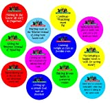 "Set of 12 of 2.25"" Buttons Pins Badges ""My Very Funny New Year's Resolutions"""