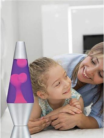 Jaune et violet Offre une exp/érience vraiment relaxante Lampe /à lave classique contemporaine 36,8 cm