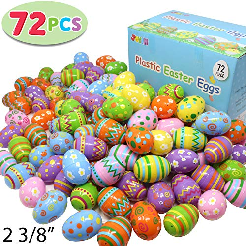 Joyin Toy 72 Pcs Plastic Printed Bright Easter