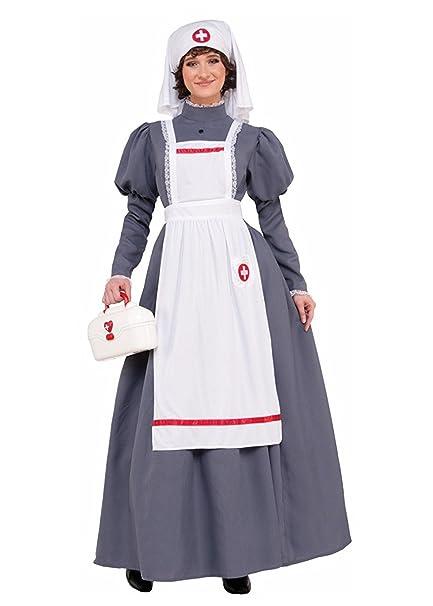 0b4115077dd44 Forum Novelties American Civil War Nurse Costume Womens Dress Red Cross  Barton Nighti Nightingale 14- Sc 1 St Amazon.com