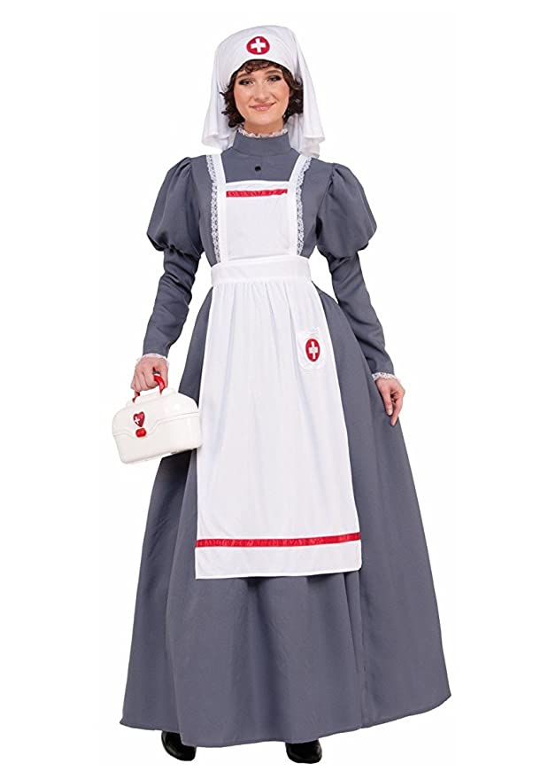 Victorian Costumes: Dresses, Saloon Girls, Southern Belle, Witch Nurse Adult Costume- $38.52 AT vintagedancer.com