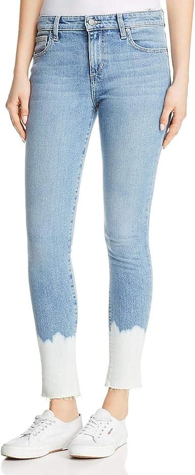 FHn Love Womens Medium Wash Destructed Denim Medium Rise Skinny Jeans