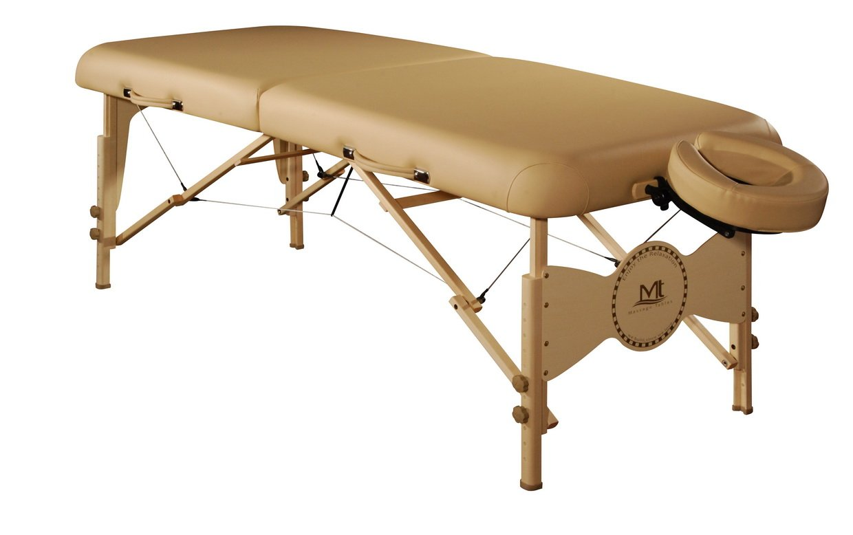 Mt Massage Midas-Plus 30'' Professional Portable Massage Table Package with Reiki Panel(Beige)