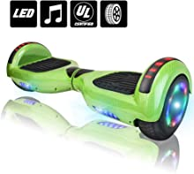 """NHT 6.5"""" Electric Hoverboard Self Balancing Scooter with Built-in Bluetooth Speaker LED Lights - UL2272 Certified (Various Styles)"""