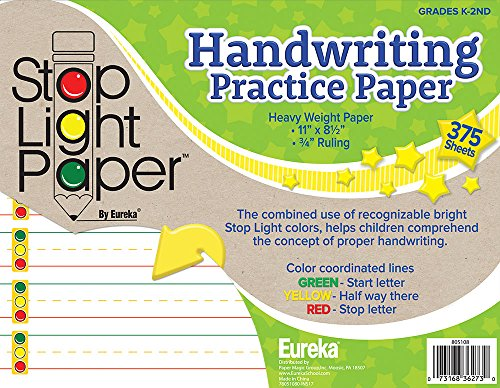 - Eureka Back to School Stop Light Handwriting Practice Paper for Students, 375 pc