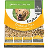Only Natural Pet EasyRaw Human Grade Dehydrated Raw Dog Food Formula That Contains Real Wholesome Nutrition, Low Glycemic, Non-GMO - Chicken & Oats Flavor - 2 lb Bag (Makes 12 lbs)