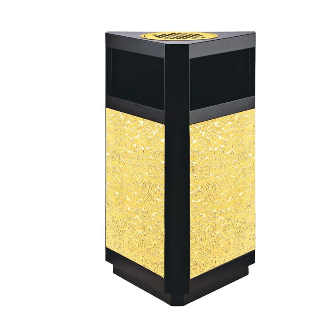 IAIZI ゴミ缶戸外ゴミ倉庫ビンホテル商業垂直ゴミ箱灰皿、400 * 230 * 720mm、ゴールド   B07MTSP55H