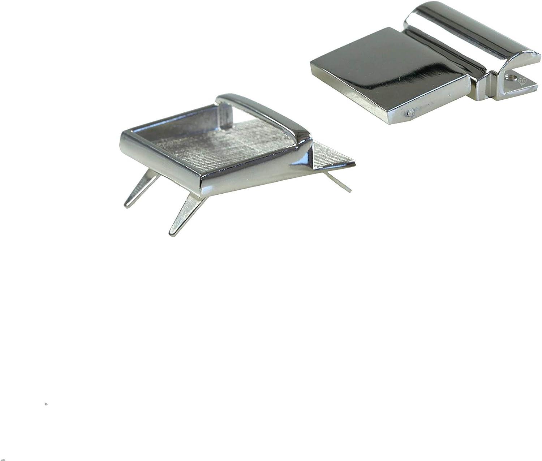 Metall Mappenverschluss Steckverschluss Mappenschloss 30x40mm silbern