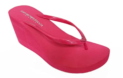 137ff8a7e399 Image Unavailable. Image not available for. Colour  Emporio Armani Swimwear Women s  Thong Sandals red ...