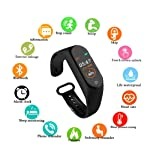 SBA999 ABM411 M4 Bluetooth Wireless Smart Fitness Band for Boys/Men/Kids/Women | Sports Watch Compatible with Xiaomi, Oppo, Vivo Mobile Phone | Heart Rate and BP Monitor, Calories Counter