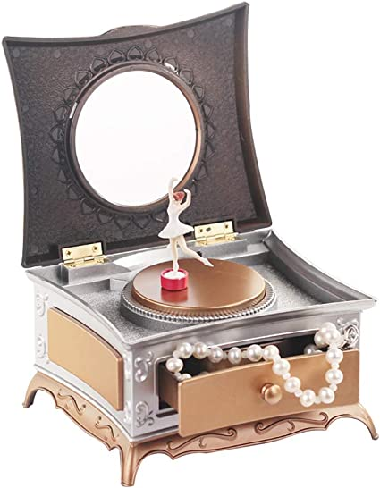 Daxoon Caja de joyería Musical con Bailarina, Caja de ...